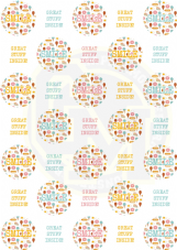 Smile Great Stuff Inside Stickers - Matt Paper - 37mm Rounds